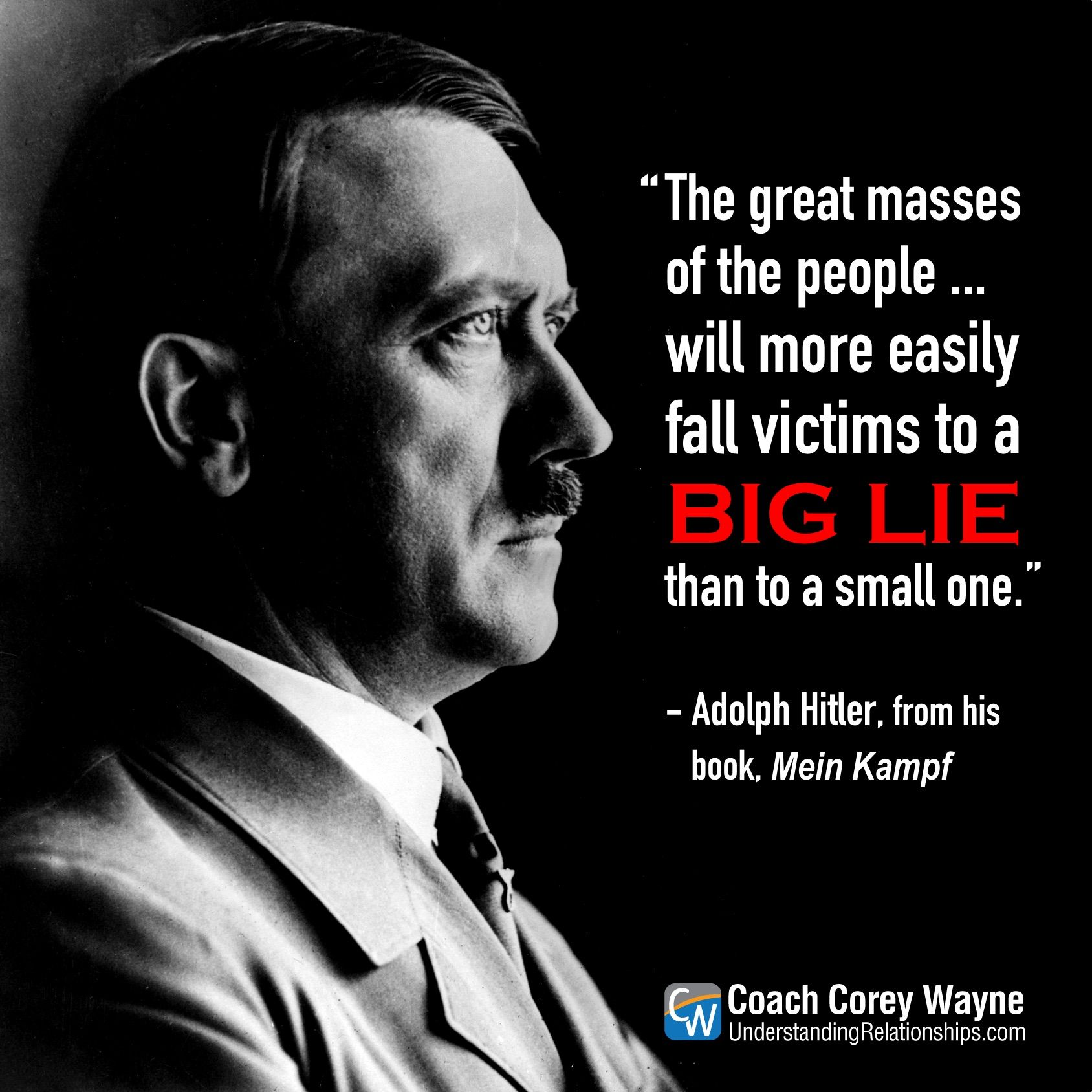 Holocaust Quotes Adolfhitler #meinkampf #propaganda #thebiglie #nazigermany #dictator .