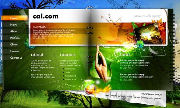 Creative Web Design Templates Gorgeous | Graphix & Dezign ...