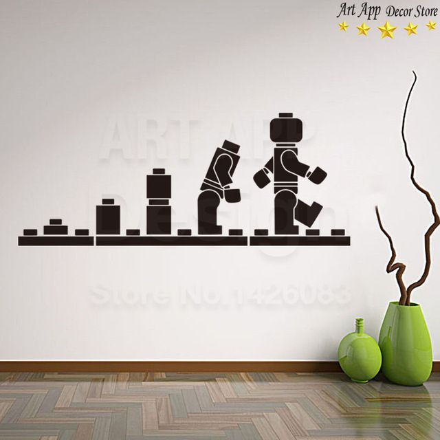 good quality new art design lego blocks home decor vinyl wall decals