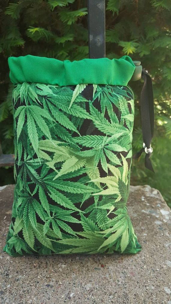 Size Large Pipe Bag Cannabis Marijuana Leaf Leafs Hemp