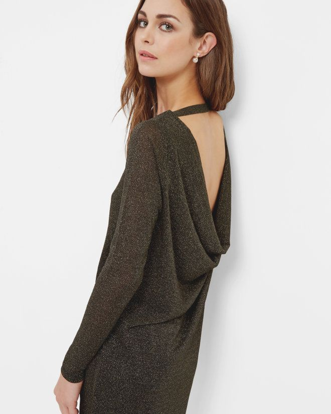 Sparkle gathered dress - Black | Dresses | Ted Baker | list | Pinterest