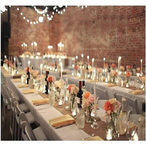 Burlap Table Runner: 102x12.  Rustic Country Wedding Decorations and Reception Ideas.  #wedding #rustic #country