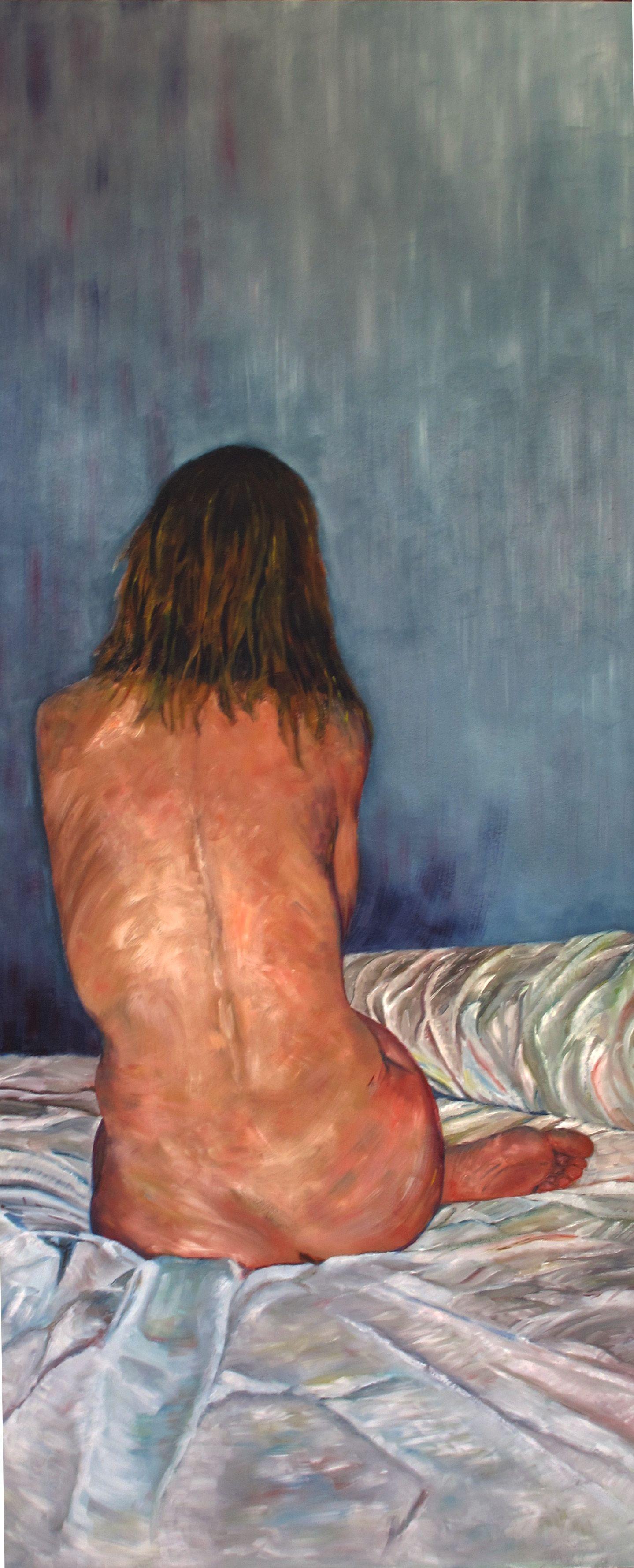 ella, mi musa por siempre, la que me inspira y me inspirará! -oil on board 120x50cm- on sale: 1500.00€