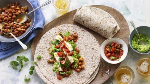 Pan roast lime feta and chilli greens burrito recept forumfinder Choice Image