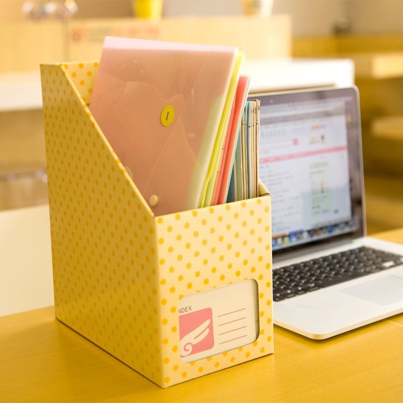 Aliexpress Diy Stationery Holder Desktop Storage Box Waterproof Paper Orange Polka