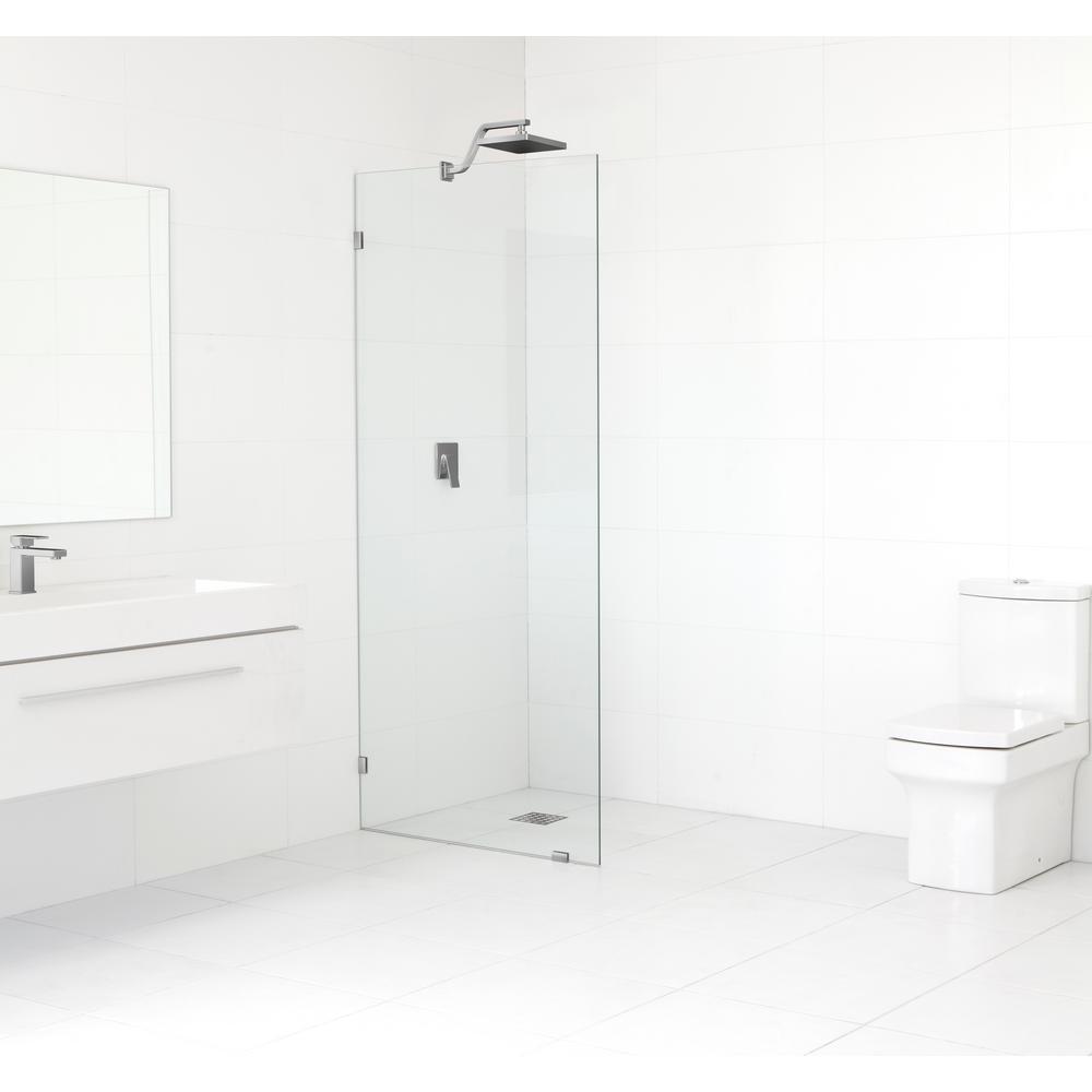 glass warehouse 30 5 in x 78 in frameless fixed shower door in rh pinterest com