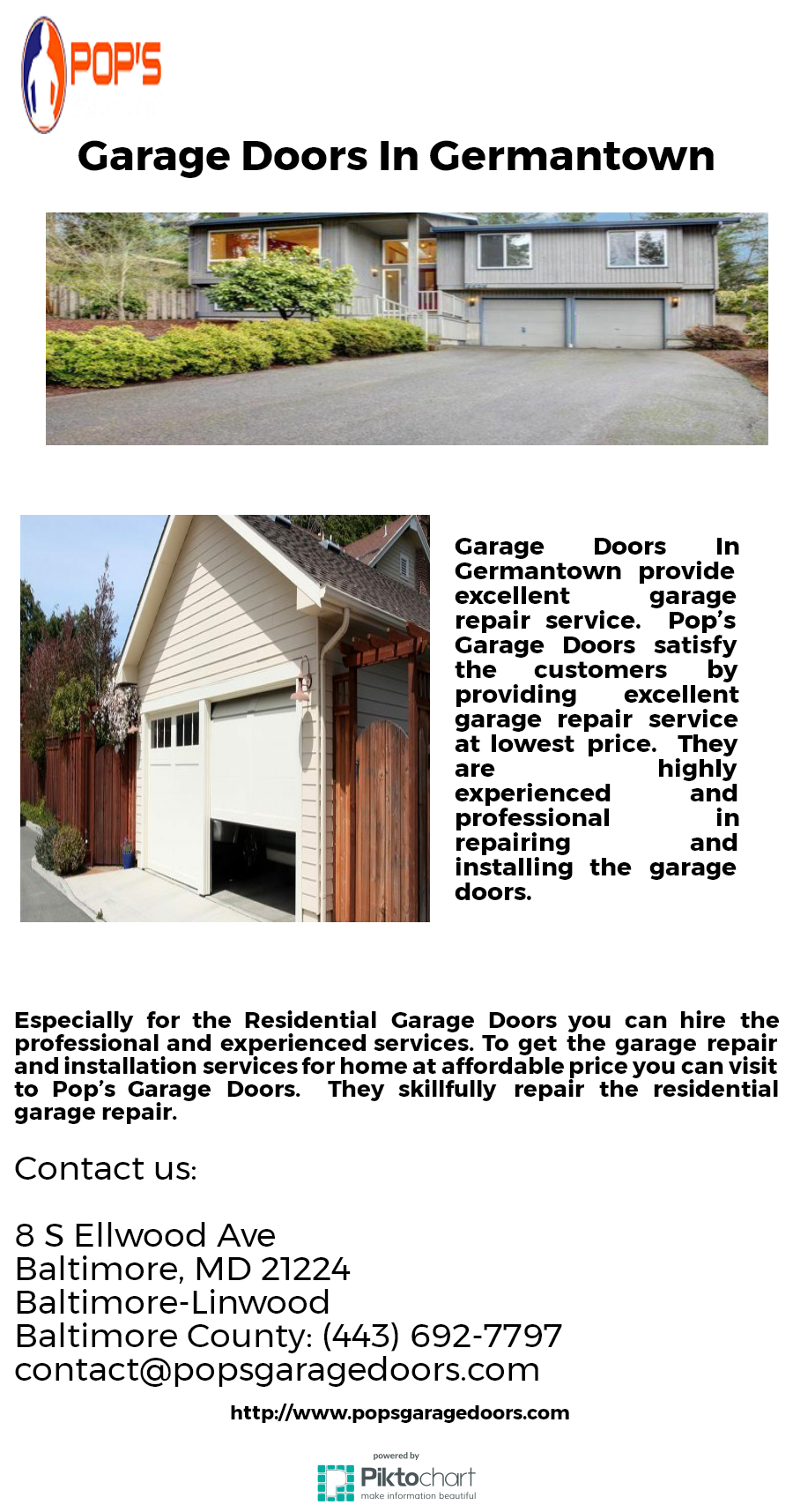 To Get The Service Of Garage Door Services Germantown You Can Contact To The Well Experienced Pop S Garage Doors Garage Service Door Residential Garage Doors