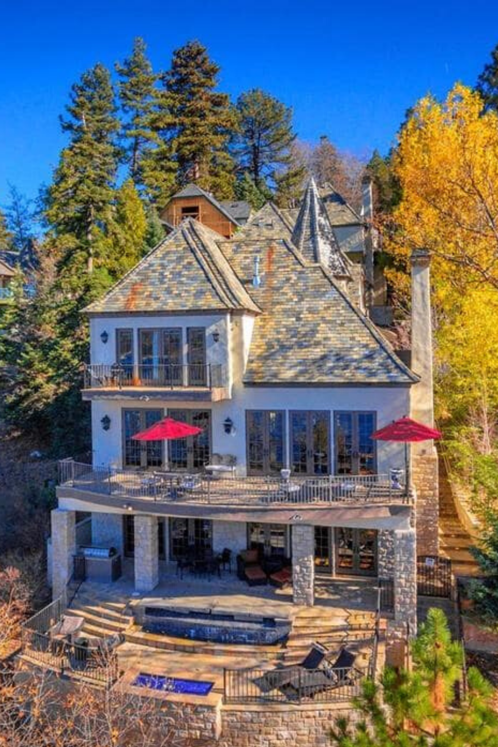 Sammy Hagar S House In Lake Arrowhead Ca Listed For 3 9 Million In 2020 House Exterior Luxury Homes Exterior Celebrity Houses