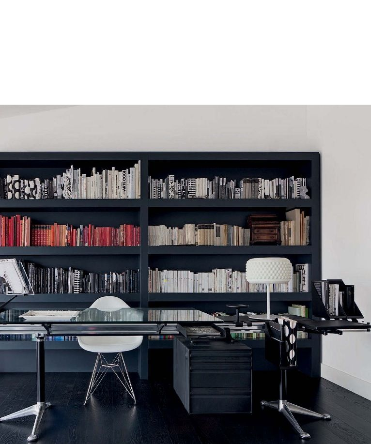icf home designs%0A Home office   Eames chair by Vitra  table by Herman Miller ICF and