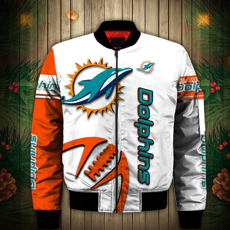 Miami Dolphins Bomber jacket Graphic balls gift for fans