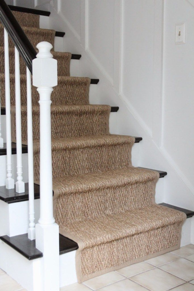 How Our Natural Fiber Stair Runner Has Held Up Stair Runner Stair Runner Carpet Staircase Runner