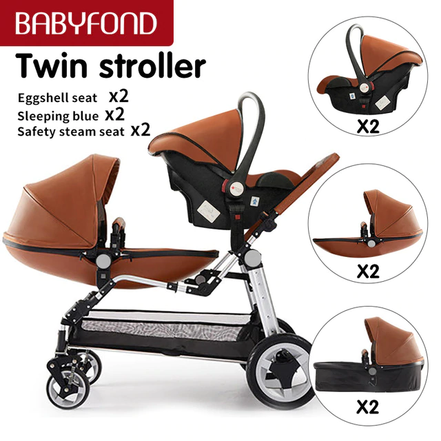 Main 03 years old High landscape stroller luxury twins