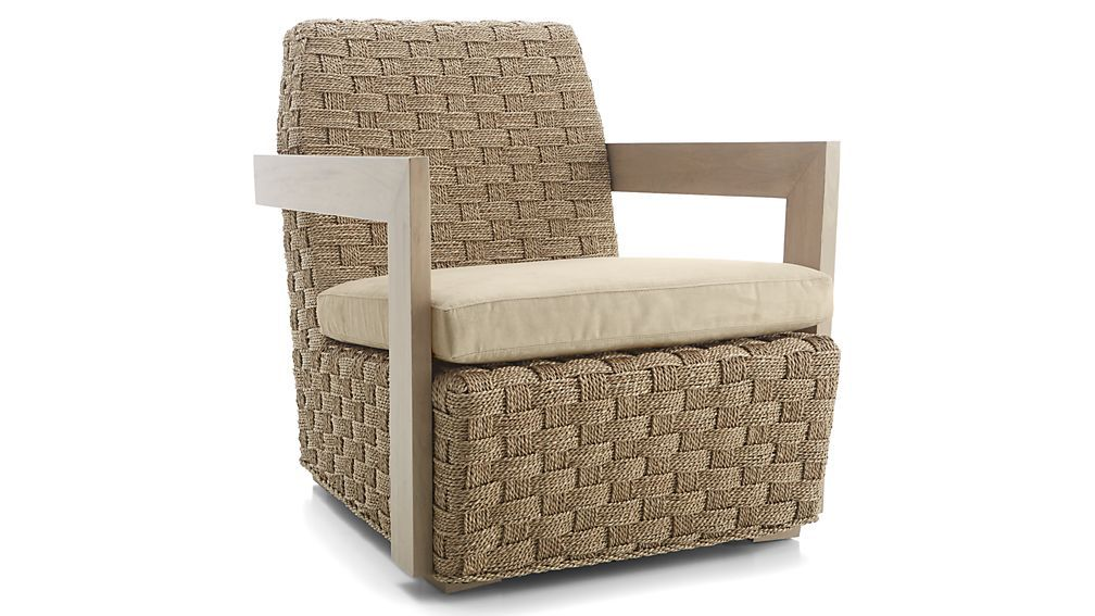 Coronado seagrass chair with cushion reviews crate and