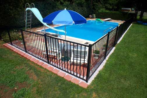 Inground Pool Fence Ideas inground swimming pools for your house outdoor nook for six cuddly swing inground swimming pools with green chairs Az Pool Fence