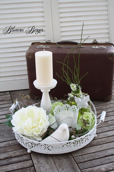"""Photo of Decorative objects – :::: Home decoration """"Summer tray"""" :::: – a designer piece by Blu …"""