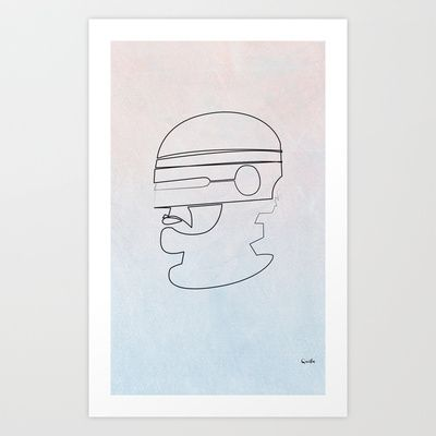 On Line Robocop Art Print by quibe - $18.72