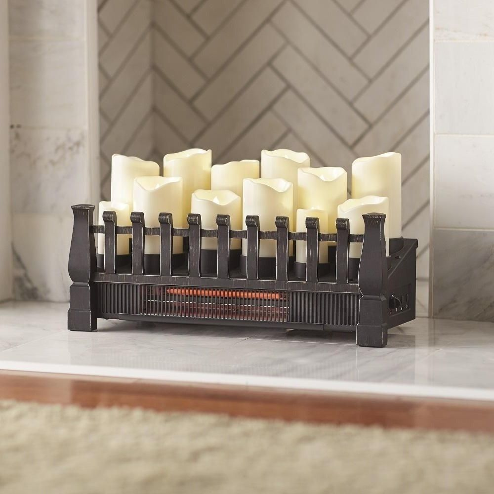 electric fireplace insert 20 in candle infrared heater energy rh pinterest co kr