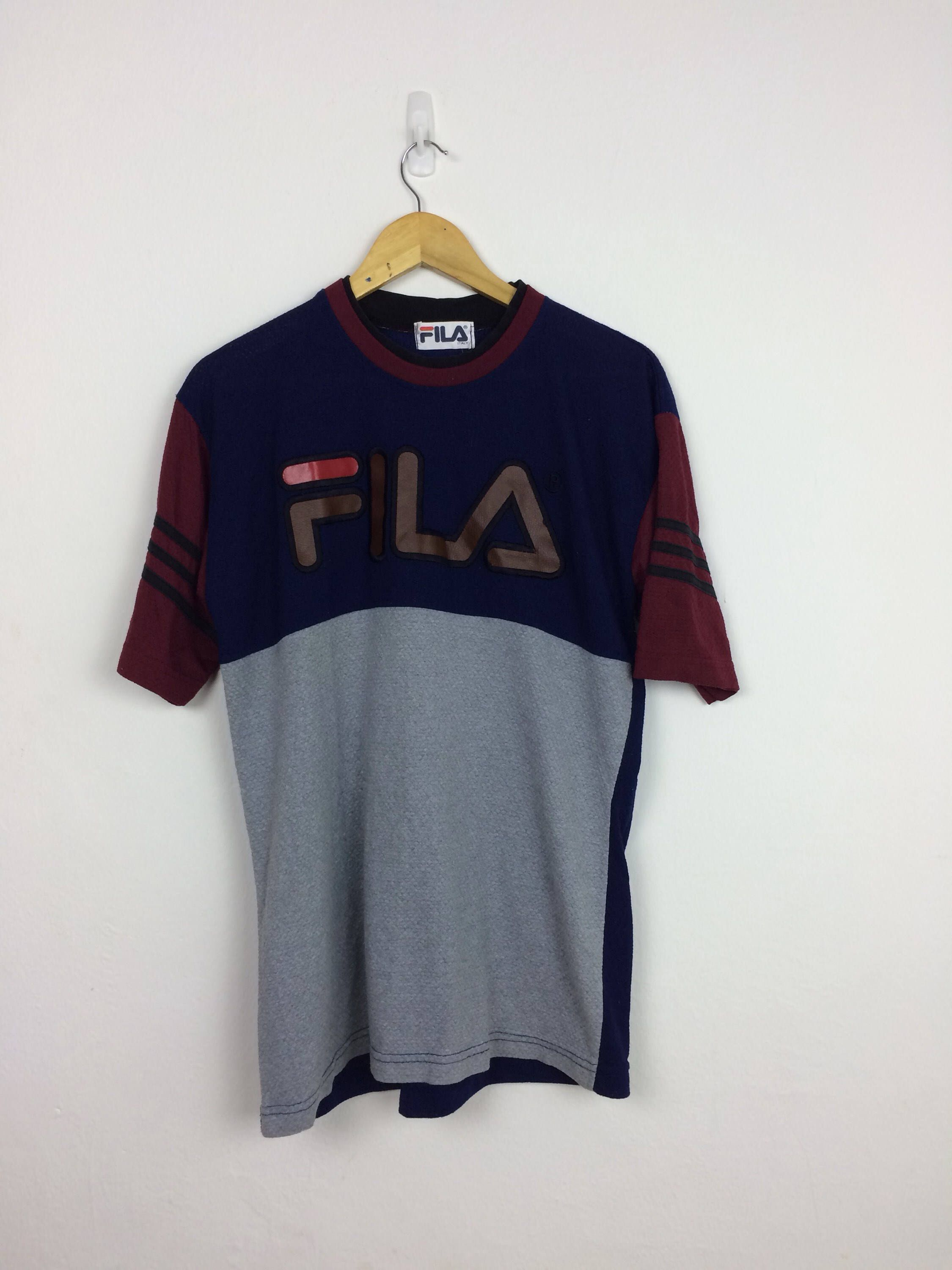 8ba596a711876d Excited to share the latest addition to my  etsy shop  Vintage Fila T Shirt  Size L Big Logo Streetwear  clothing  men  tshirt  streetwear  kappa   champion ...