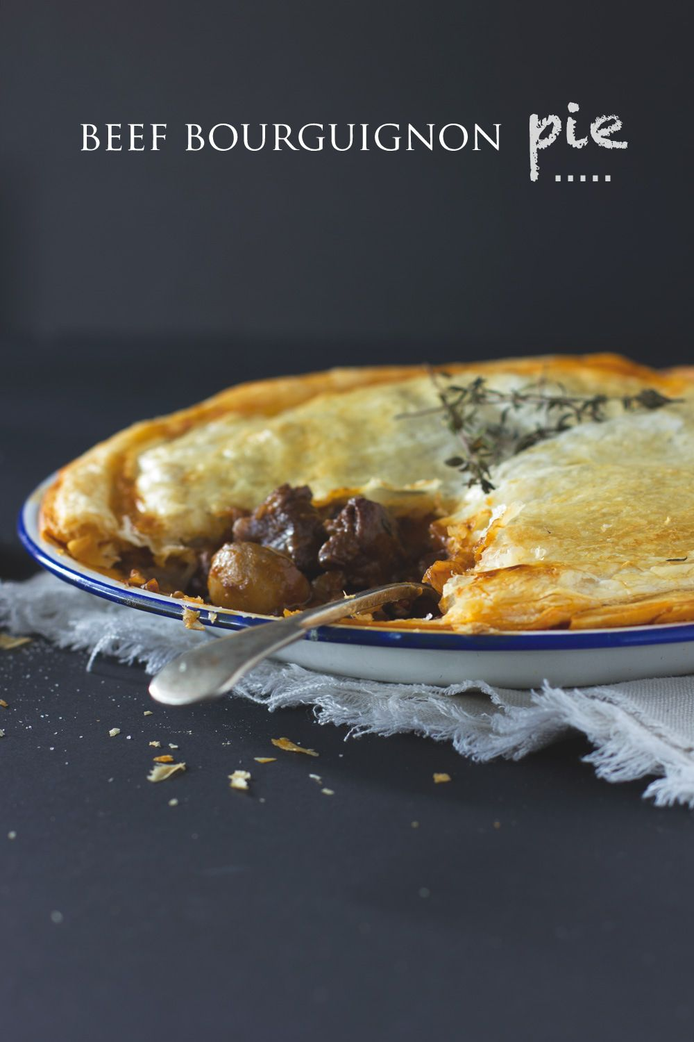 A winter delight: homemade beef bourguignon pie » cake crumbs & beach sand