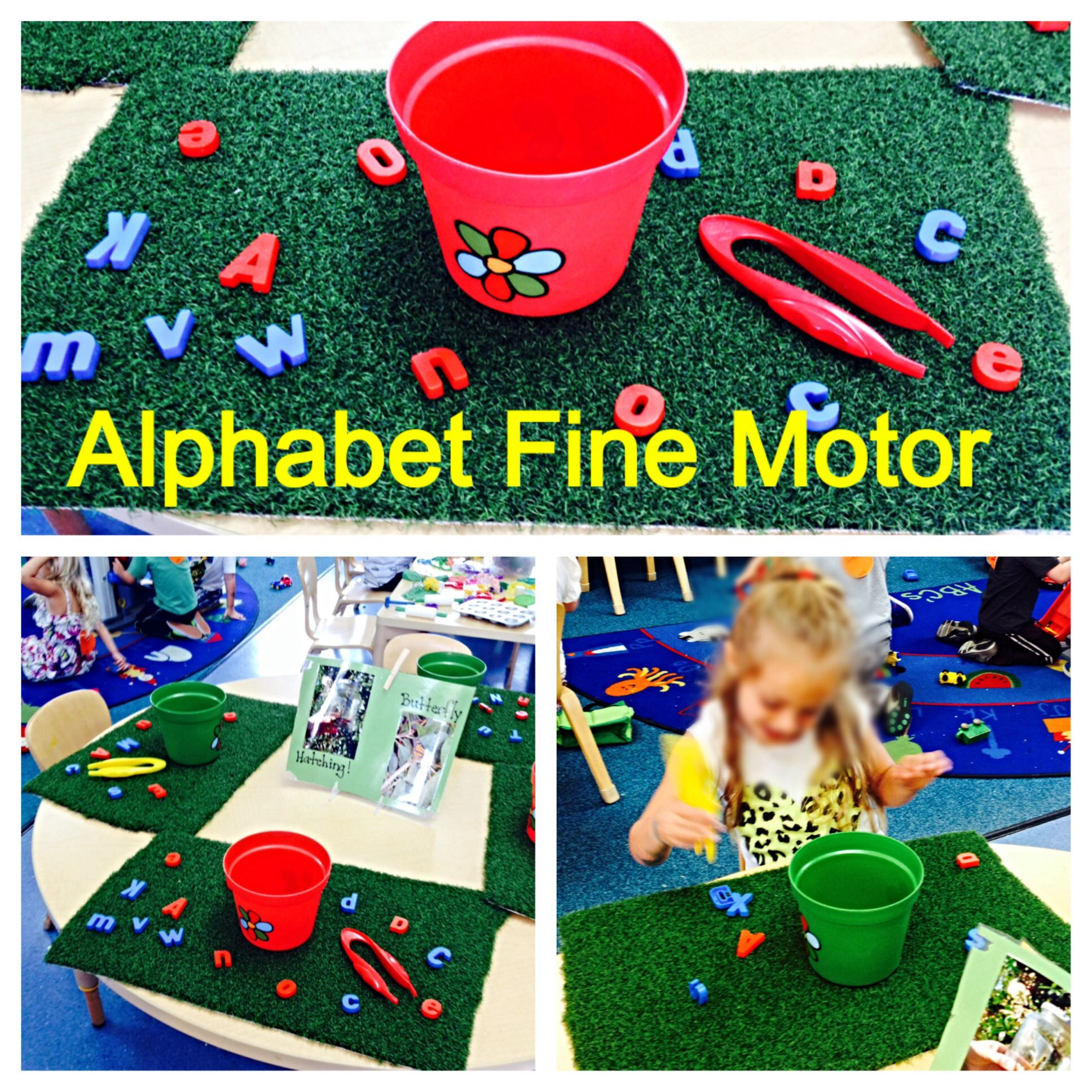 Preschool Spring/Easter/Garden Theme: Alphabet Fine Motor Activity ...