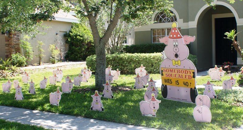 40th birthday yard ornaments Birthday yard signs, 40th