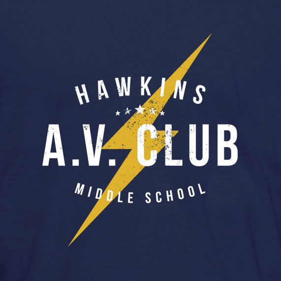 3ca9ebf0ccea Hawkins A.V. Club T-Shirt inspired by the 2016 TV series Stranger ...