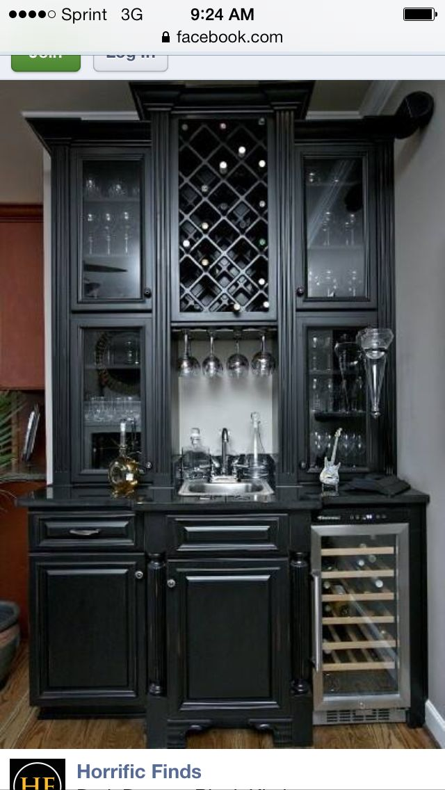 blacked out dining room wine cabinets wet bar designs bars rh pinterest com