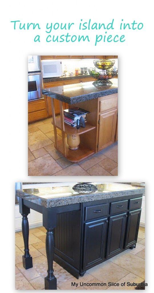 turning a kitchen island into a piece of furniture diy pinterest rh pinterest com
