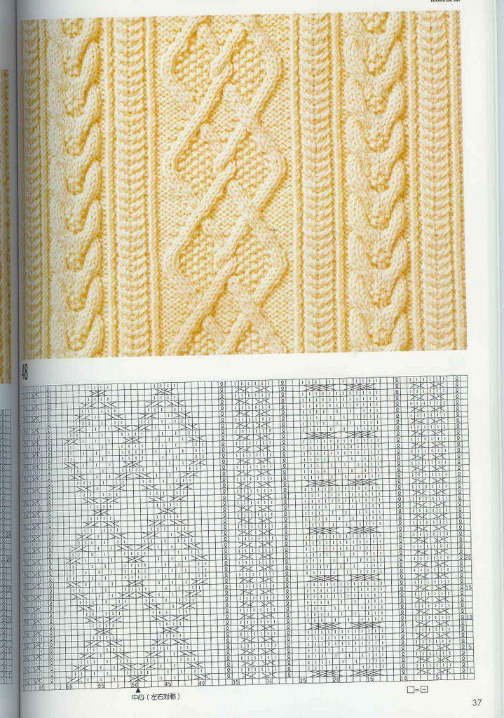 SOLO PUNTOS: Trenzas, puntos cruzados tricot   Punto tutorial ...