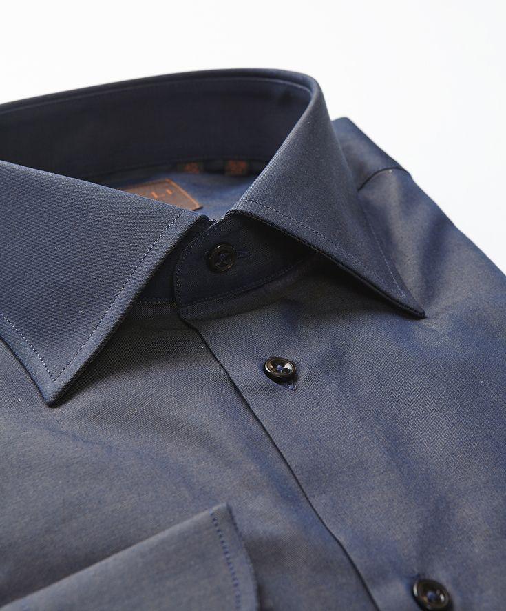 2f91dea4bbd Bluish Brown Mélange Solid Shirt by Gemelli Italian Wear. Gemelli ...