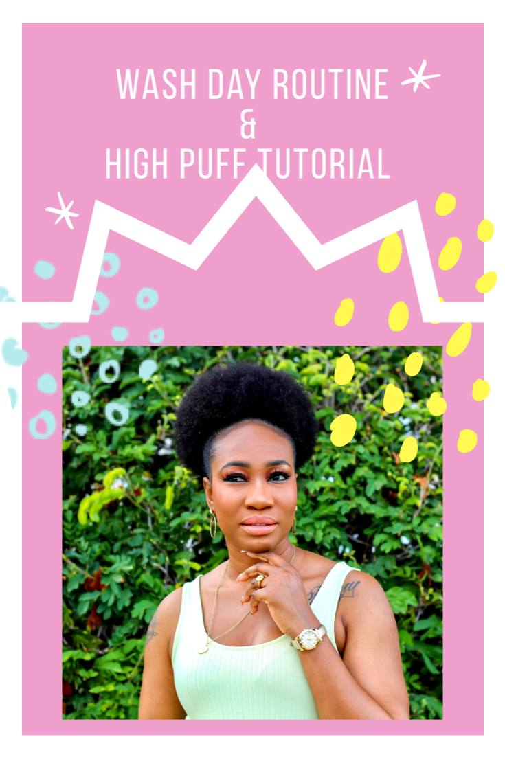 For all my #naturalhair queens check out how I wash my hair and put it in this high puff. #4chair #4chairstyles #youtubechannel #hairtutorial #cremeofnature