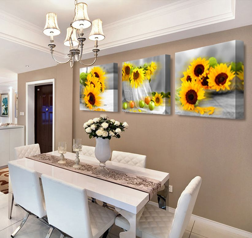 Paintings Art Flowers Corridor Canvas Oil Painting
