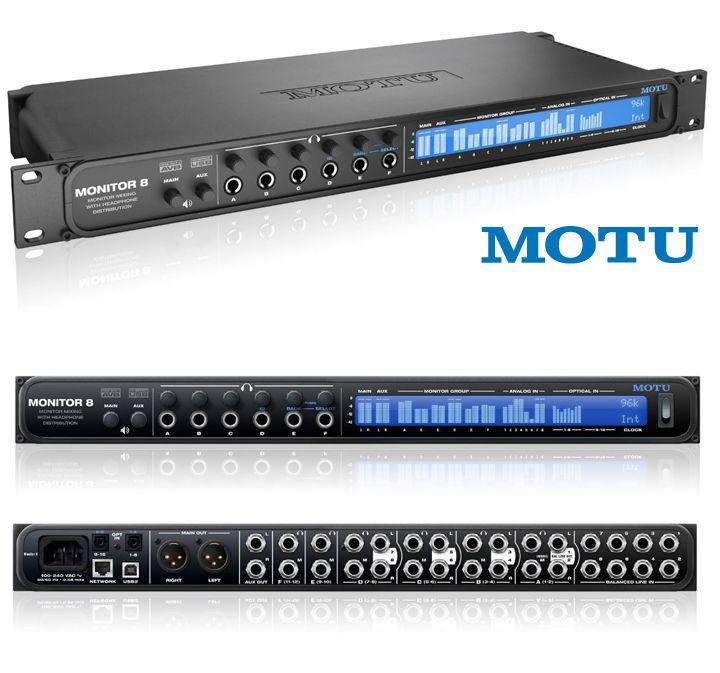 Motu Monitor 8 Monitor Mixer Headphone Amp Usb Avb Audio