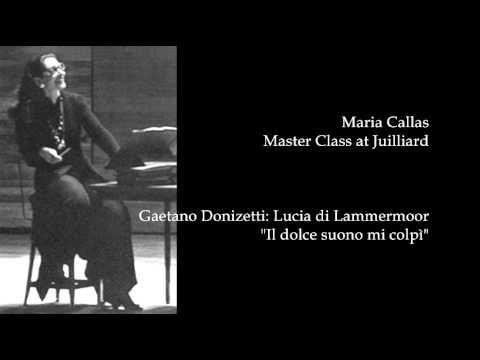 """Callas at Juilliard 51 -- Donizetti: """"Il dolce suono"""" (Lucia di Lammermoor)"""