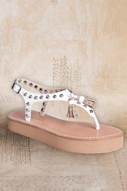Hydrus SandaliasY CueroPlataforma Tachas Zapatos Sandalia yfY7bg6v
