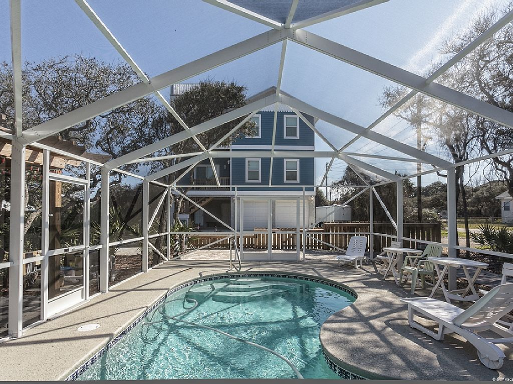 st. augustine florida beach house rentals with pool