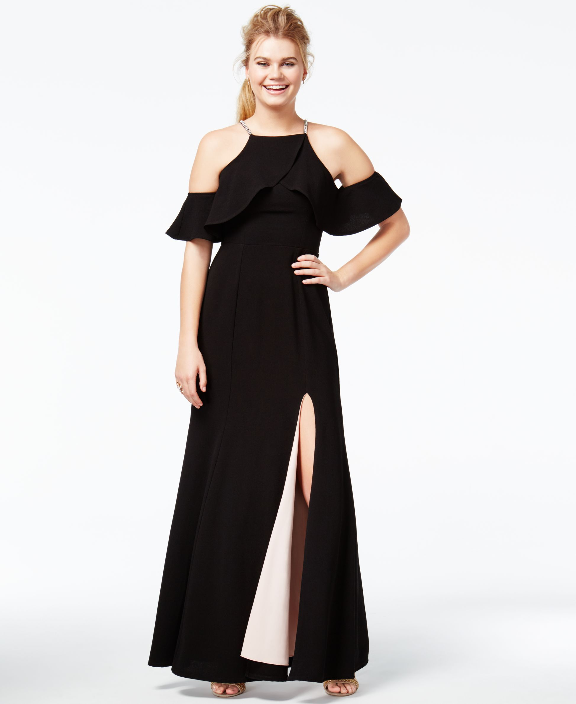 Speechless juniorsu ruffled coldshoulder gown products