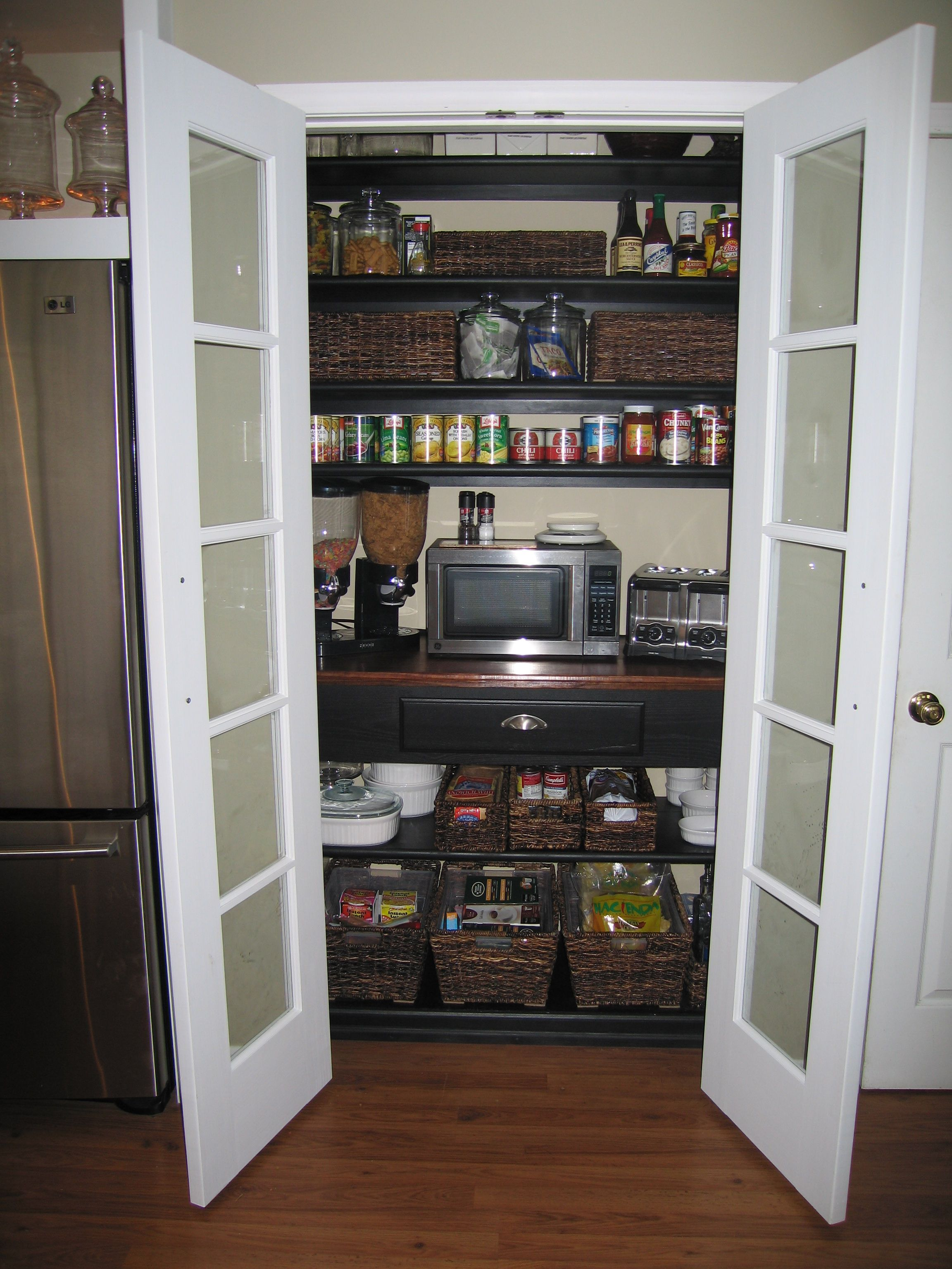 Kitchen Pantry In A 2 X 4 Space Kitchen Pantry Doors