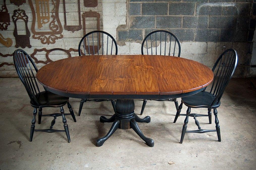 dark windsor chairs with oak pedestal table house design dining rh pinterest com