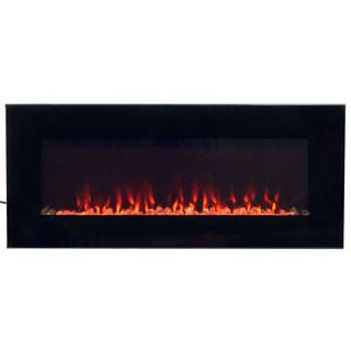electric fireplace wall mounted led fire ice flame with remote rh pinterest at
