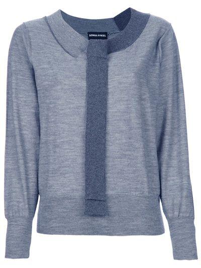 SONIA RYKIEL Knitted Tie Sweater