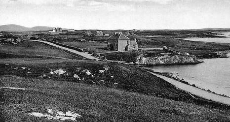 Old photograph of Lochmaddy, North Uist, Outer Hebrides, Scotland