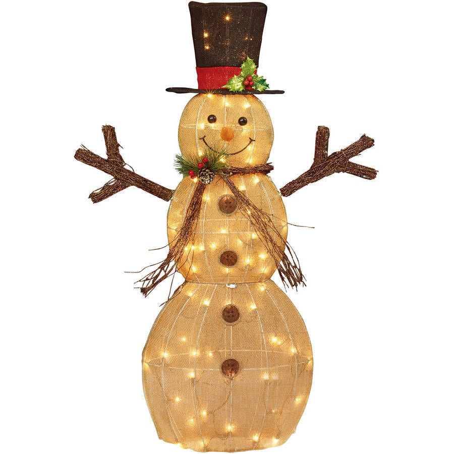"""Snoopy Christmas Tree Topper: Christmas Decor Lighted Snowman 48"""" Indoor Outdoor Yard"""