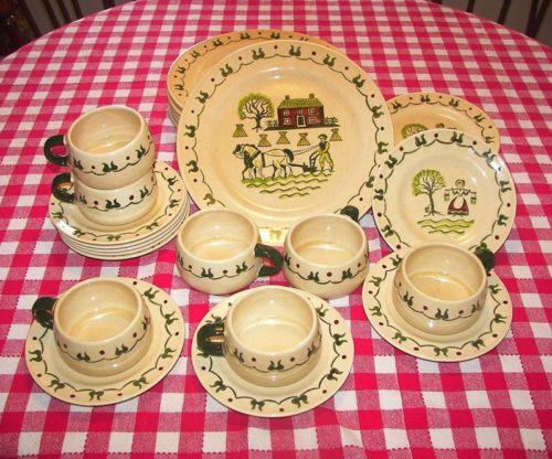 Beautiful Farmhouse Dinnerware! Vtg-Colonial-Country-Metlox-Poppytrail-Homestead- & Beautiful Farmhouse Dinnerware! Vtg-Colonial-Country-Metlox ...