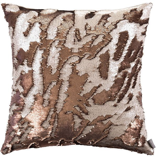 Aviva Stanoff Two Tone Mermaid Sequin Cushion - Bronze - 50x50cm ($125) ❤ liked on Polyvore featuring home, home decor, throw pillows, metallic, bronze throw pillows, sequin throw pillow, metallic throw pillows, beige throw pillows and ivory throw pillows