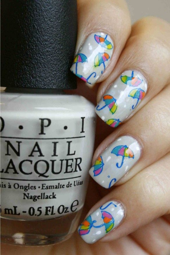 nail art umbrella, paraplu, fall, herfst, regen, rain | Cool stuff ...