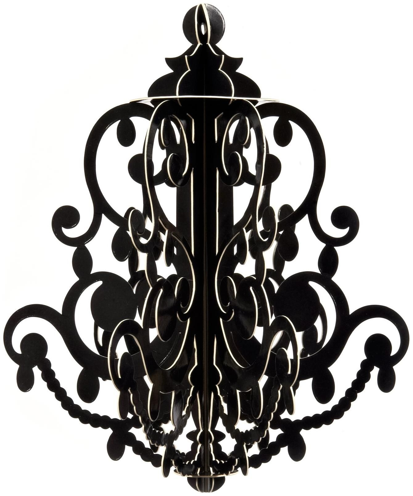 PartyBell Black Chandelier