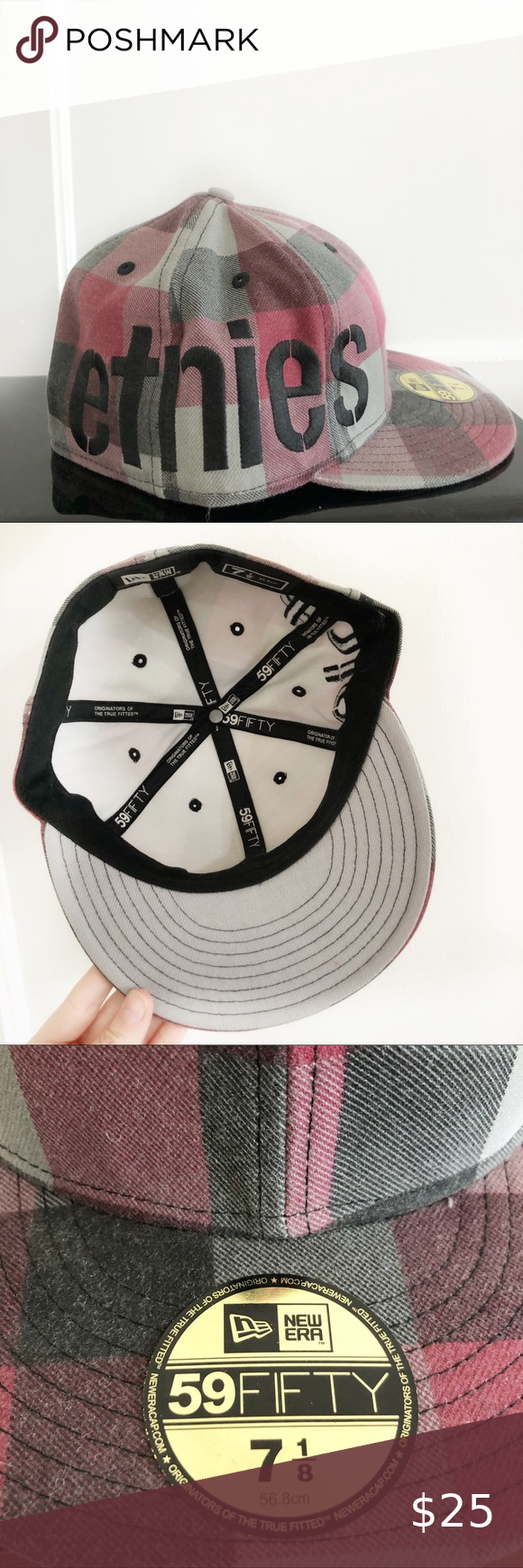 Etnies Fitted Plaid Skate Hat New Era 59fifty In 2021 Skate Hats New Era Hats New Era Beanie