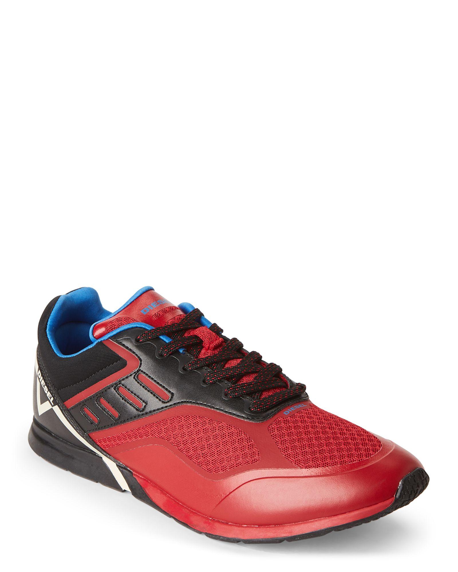 Diesel Black & Red V-Diction S-Gloryy Low-Top Sneakers