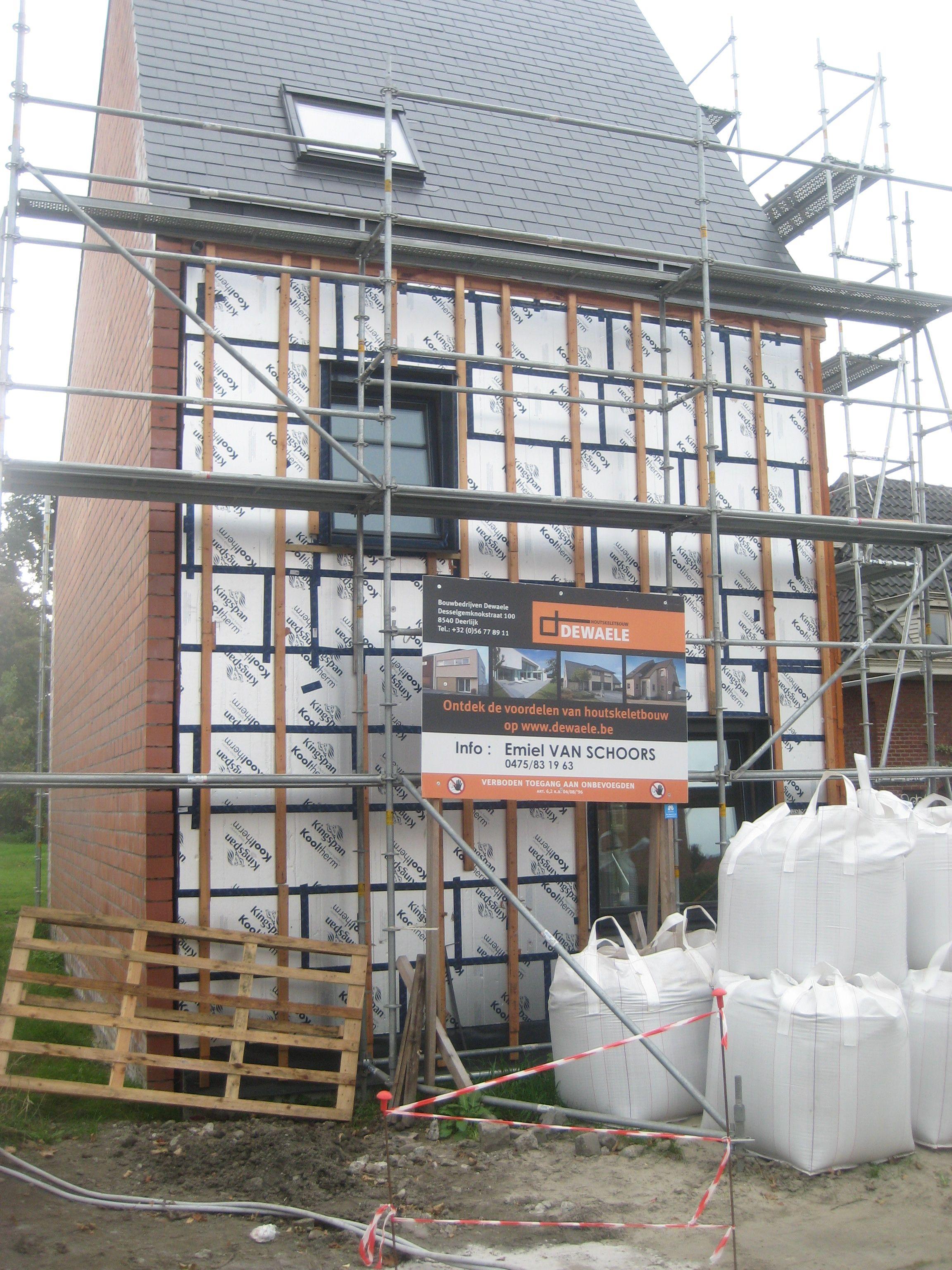 Opbouw van een houtskeletbouw woning | Werf | Dewaele Houtskeletbouw